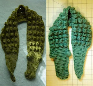 gator scarf comparison to knit version
